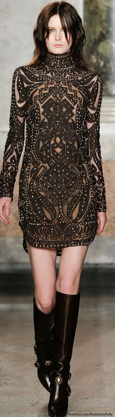 Emilio Pucci | F/W 2014 RTW-I love a good cut-out dress.  Someday I want to take an exorbitant amount of time making a perfect cutout dress.