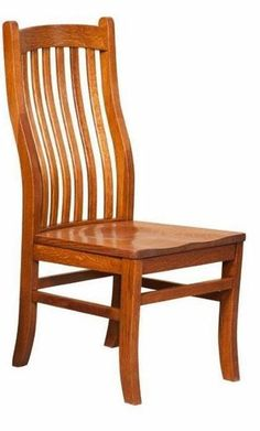 Amish Mission Arts and Crafts Side Dining Chair - Quick Ship