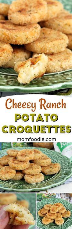 Cheesy Ranch Potato Croquettes Recipe - appetizer