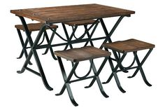 Medium Brown Freimore Dining Room Table and Stools (Set of 5) View 4