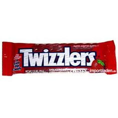 twizzlers -my favorite..can't eat them now they have MSG and I am sensitive to that but at least Walter from Fringe and I have these in common :-)