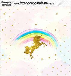 Fiesta de Unicornios: Etiquetas para Candy Bar para Imprimir Gratis.