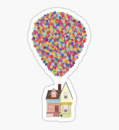 Pixar Drawing Balloons Sticker - Shop from 1000 unique Disney Stickers on Redbubble. Buy get off! Perfect to stick on lapto. Stickers Cool, Red Bubble Stickers, Printable Stickers, Planner Stickers, Macbook Stickers, Phone Stickers, Tumbler Stickers, Homemade Stickers, Wallpaper Stickers