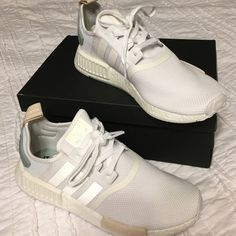 Brand new Adidas NMD_R1 for women-Size 10. Color: White/Tactile Green-White. They run a half size too big. If you normally wear a size 10.5, this size should work.  Thanks!