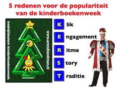 5 redenen voor de populariteit van de #kinderboekenweek K E R S T: Klik, Engagement, Ritme, Story, Traditie. #KBW13