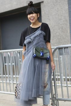 Susie Lau sporting a #ChristopherKane on the streets of #NYFW -See more #SS16 fashion week action on The Hub