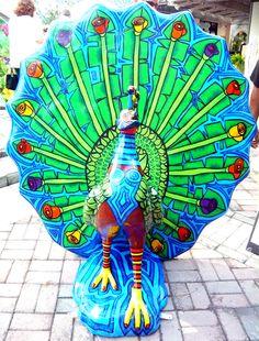 Carnival peacock