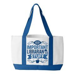 Important Librarian Stuff tote bag