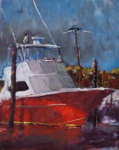 Rick Nilson's Paintings: Red Sportfisher