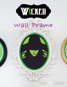 """Need a """"Wicked"""" decorating idea this Halloween? Give into your dark side and make your guests say, """"Wow!"""" with this Wicked inspired Ikea wall frame craft. The Effective Pictures We Offer You About box Holidays Halloween, Halloween Crafts, Halloween Decorations, Happy Halloween, Wicked Musical, Wicked Witch, Frame Crafts, Fun Crafts, Geek Crafts"""
