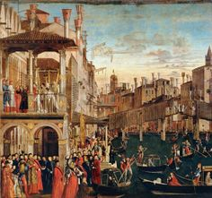 The Miracle of the Relic of the True Cross on the Rialto Bridge, 1494 (oil on canvas) (see also 119437)