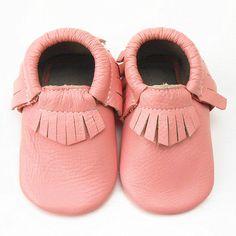Sayoyo Soft Sole Leather Baby Shoes Boy Girl Infant Toddler Moccasins 0-6 Months #SAYOYO #TasselBabyShoes