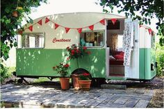 I love these vintage campers so much.  What a great guest bedroom they'd be.