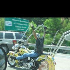 Ape hangers...crazy!! #harleydavidsonroadkingapehangers