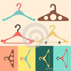 Hanger vector flat design with the many uses that you can be. Clip art, icons, buttons and more