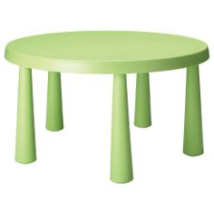 "MAMMUT Children's table - light green, 33 1/2 "" - IKEA"