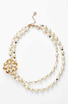 Pearls are always in style | Tory Burch faux pearl multistrand necklace