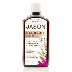 Jason Dandruff Relief 2 in 1 Shampoo & Conditioner 355ml is a dual action, medicated formula that cleanses and conditions in one easy step while controlling scalp dermatitis and mild psoriasis.    £8.99  #haircare #natural #organic #jason