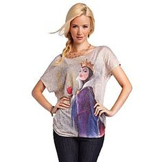 Disney Villains Fashion Snow White Evil Queen Tee for Women | Disney StoreDisney Villains Fashion Snow White Evil Queen Tee for Women - Only our wicked Queen knows the penalty if you fail to look fabulous in this dramatic Disney Villains tee. Highly detailed and fully-rendered artwork of Snow White's vainglorious vamp will guarantee you remain fairest in any land.