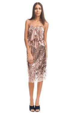 Nina Ricci Sequined Fringe Dress