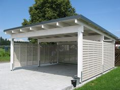 CARPORT von Wachter Holz :: Window construction conservatory garden shed carport or poultry house quality from Ravensburg / Bodensee Building A Carport, Carport Plans, Carport Garage, Pergola Plans, Shed Plans, Pergola Ideas, Building Homes, Carport Prices, Garage Prices