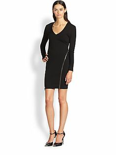 Z spoke black dress zip front