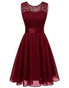 Looking for BeryLove Women's Short Floral Lace Bridesmaid Dress A-line Swing Party Dress ? Check out our picks for the BeryLove Women's Short Floral Lace Bridesmaid Dress A-line Swing Party Dress from the popular stores - all in one. Short Lace Bridesmaid Dresses, Classy Prom Dresses, Lace Bridesmaids, Elegant Dresses, Pretty Dresses, Beautiful Dresses, Short Dresses, Party Dresses Online, Party Dresses For Women