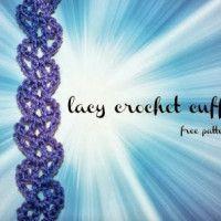Lacy Crochet Cuff Bracelet – Free Crochet Pattern October 21, 2013 by Rhondda