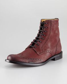 Olden Wing-Tip Boot by Billy Reid at Neiman Marcus.