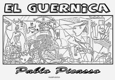 Guernica by Pablo Picasso coloring page from Pablo Picasso category. Select from 21162 printable crafts of cartoons, nature, animals, Bible and many more. Pablo Picasso, Picasso Guernica, Jesus Coloring Pages, Free Printable Coloring Pages, Free Coloring Pages, Georges Seurat, Spiderman Coloring, Henri Matisse, Picasso Paintings