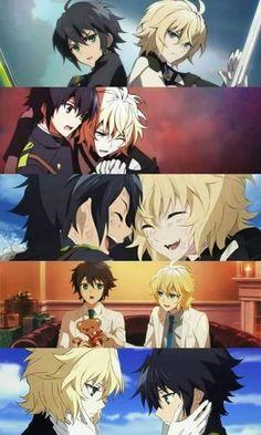 """(Seraph of the End) Yuichiro """"Yu"""" Hyakuya and Mikaela """"Mika"""" Hyakuya"""
