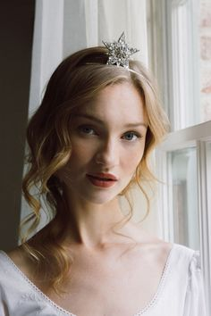 Bridal Headpieces, weddings crowns, tiaras, celestial star crowns in rose gold, silver & gold Headpiece Wedding, Wedding Veils, Bridal Headpieces, Wedding Hair, Bridal Crown, Bridal Tiara, Celestial Wedding, Head Jewelry, Moon Jewelry