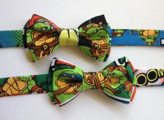Ninja Turtles Pre-tied Bow Tie. Boys/Toddler/infant Teenage Mutant Ninja Turtles Bow Tie https://www.etsy.com/listing/200594783/ninja-turtles-pre-tied-bow-tie?ref=shop_home_active_4