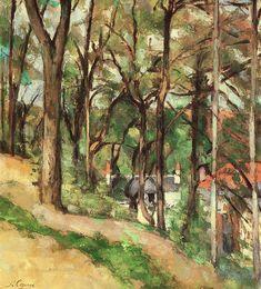 Huile sur toile, 66 x 54 cm, 1877 (R 312), en prêt au Museum of Fine Arts, Saint-Pétersbourg (Floride).  Les deux tableaux de 1877 représentant la Côte des boeufs de C Pissarro (PRDS 488) et P Cézanne (R 312), présentés lors de la 3ème exposition impressionniste, reflètent le respect mutuel qui ne cessa de les lier.  En plus de leur amitié picturale, ils témoignent d'une étape de leur carrière où leur style pictural s'enrichissait réciproquement sans pour autant s'influencer radicalement…