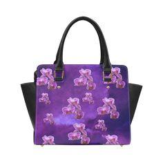 Purple Orchids Classic Shoulder Handbag. FREE Shipping. #artsadd #bags #flowers