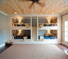 Boys Bunk Room - Design photos, ideas and inspiration. Amazing gallery of interior design and decorating ideas of Boys Bunk Room in bedrooms, boy's rooms by elite interior designers. Bunk Bed Rooms, Bunk Beds Built In, Modern Bunk Beds, Bunk Beds With Stairs, Kids Bunk Beds, Bedroom Bed, Dream Bedroom, Built In Beds For Kids, Double Bunk Beds