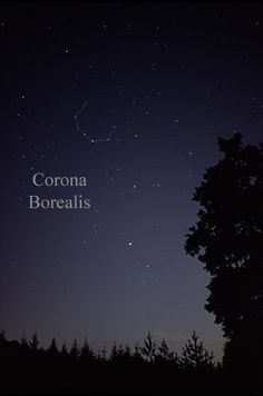 More or less how Corona Borealis and Boötes were oriented tonight. Arcturus is the low, bright star.