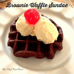 Brownie Waffle Sundae