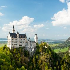 Neuschwanstein Castle | Bavaria, Germany  This castle, located in Schwangu, Germany can be found on a furrowed hill in Germany's Bavarian region. More than a million people visit this breathtaking architectural wonder every year and it served as the inspiration for Disneyland's Sleeping Beauty Castle.