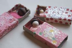 Matchbox babies are one of our favorite craft projects any time of year, but these wee ones are especially sweet for Valentine's Day. As you look ahead to your weekend, perhaps you'll find time to make some of these sweeties.