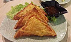 Kanom Pang Na Kung or Prawn Toast @ Thai Express