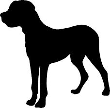 Image result for dog silhouette pillow images