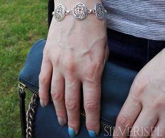 Kochasz kwiaty? Zobacz naszą bransoletkę srebrną Róże w naszym sklepie! Metal, Bracelets, Jewelry, Fashion, Moda, Jewlery, Jewerly, Fashion Styles, Schmuck