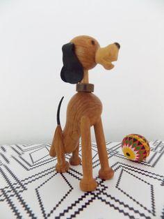 RESERVED-Danish modern Dog figurine / 1950s animal wood