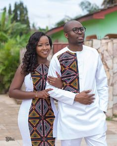 Look into the future together Congratulations Mr & Mrs Ngwang ❤️❤️❤️ May your new home be blessed Mua: Dress:… Couples African Outfits, Latest African Fashion Dresses, African Dresses For Women, African Print Fashion, Africa Fashion, Ankara Fashion, African Wear Styles For Men, African Attire For Men, African Clothing For Men