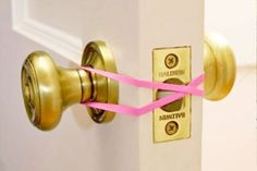 Place a rubber band over door knobs to prevent toddlers getting trapped in rooms | Mum's Grapevine