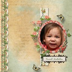 Created using Vintage Garden (collab by CarinGlobeDesigns (formerly Deli Scraps by Min), SKrapper Digitals and SnickerdoodleDesigns), by Layout Artist, Nancy