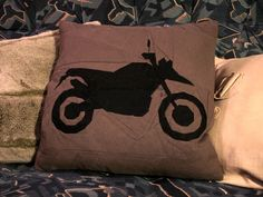 Motorcycle pattern sections placement Pillow by Zapomniana Pracownia Scissors 30x30 cm pattern sections place...