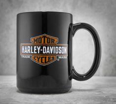 Make your ordinary morning coffee a legendary experience. | Harley-Davidson Trademark Bar & Shield Logo Ceramic Mug