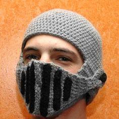 f08c9924 New Roman Knight Helmet Caps Cool Handmade Knit Ski Mask Warm Winter Hats  Beany